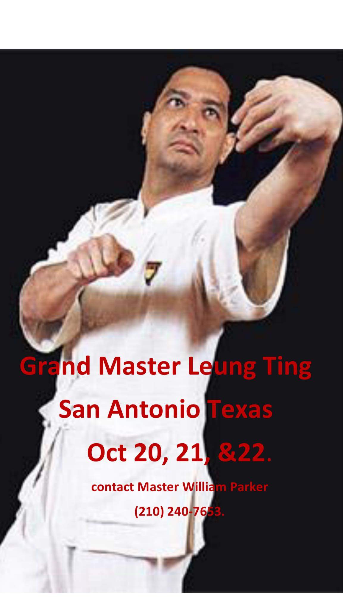 WingTsun Seminar with Great Grandmaster Leung Ting San Antonio, Texas October 20-22, 2017