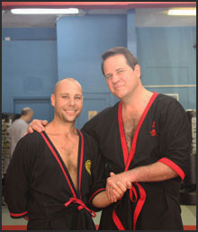 Sifu Jason Bolanz of Dallas, Texas, with his Si-Fu, Master William Parker