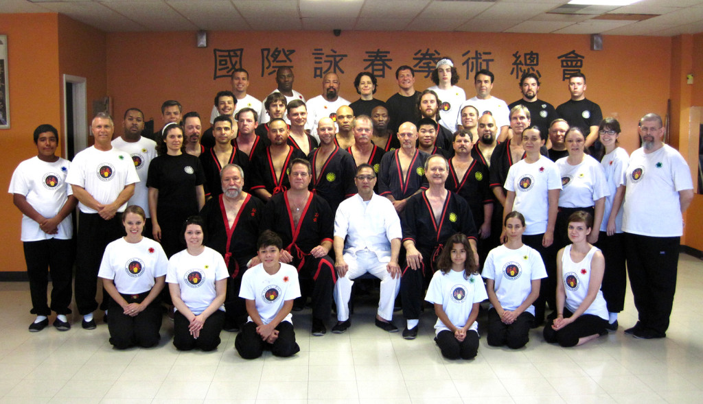 Photo - Great Grandmaster Leung Ting with San Antonio seminar participants 2014