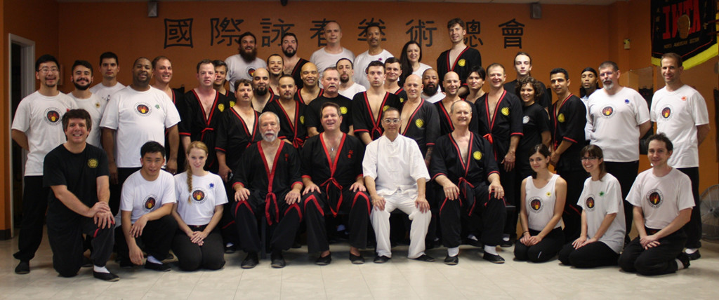 Group photo - WingTsun kung fu seminar with Great Grandmaster Leung Ting, San Antonio, Texas 2015