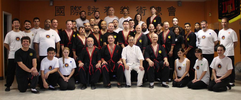 Group photo - WingTsun kung fu seminar with Great Grandmaster Leung Ting, San Antonio, Texas 2015