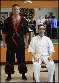 Sifu Will Parker with Great Grandmaster Leung Ting