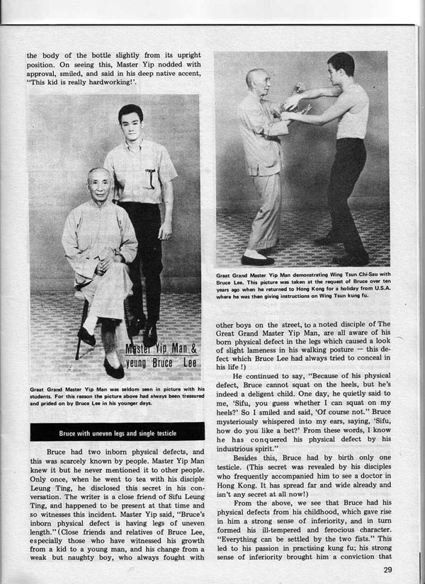 Real Kung Fu Magazine, April 1976 - The True Nature of Jeet Kune Do in the eyes of famous Wing Tsun Masters, by Aaron Lee - page 2