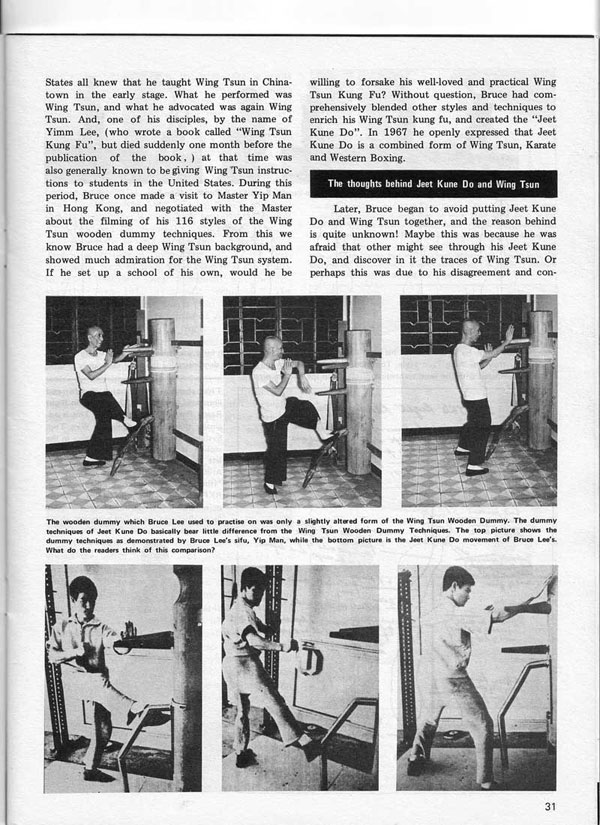 Real Kung Fu Magazine, April 1976 - The True Nature of Jeet Kune Do in the eyes of famous Wing Tsun Masters, by Aaron Lee - page 4