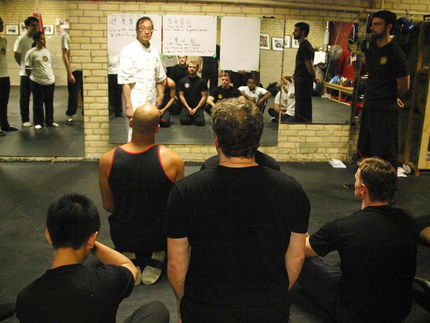 Photo: Great Grandmaster Leung Ting explaining concepts of Leung Ting WingTsun® in Toronto, Canada