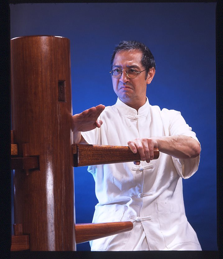 Photo: Great Grandmaster Leung Ting with WingTsun Wooden Dummy