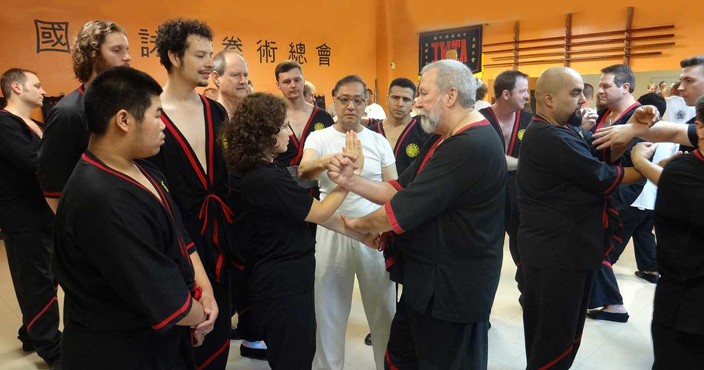 Photo: Great Grandmaster Leung Ting teaching the Leung Ting WingTsun® Kung Fu System